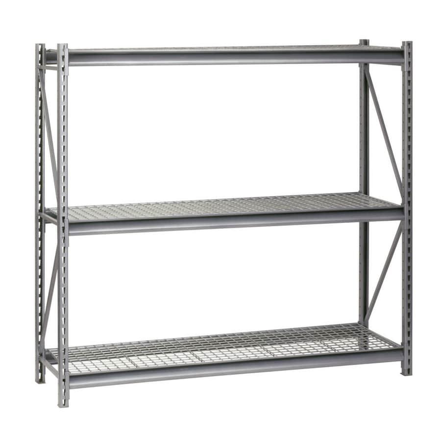 edsal 96-in H x 96-in W x 36-in D 3-Tier Steel Freestanding Shelving Unit
