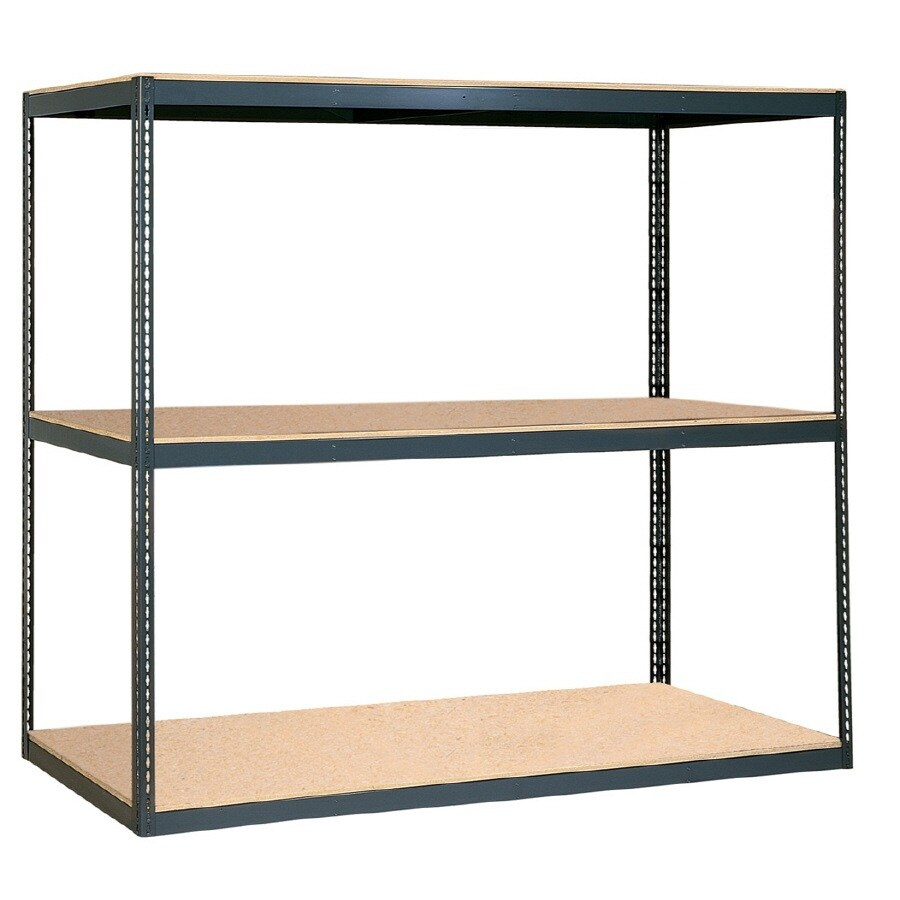 edsal 84-in H x 96-in W x 36-in D 3-Tier Steel Freestanding Shelving Unit