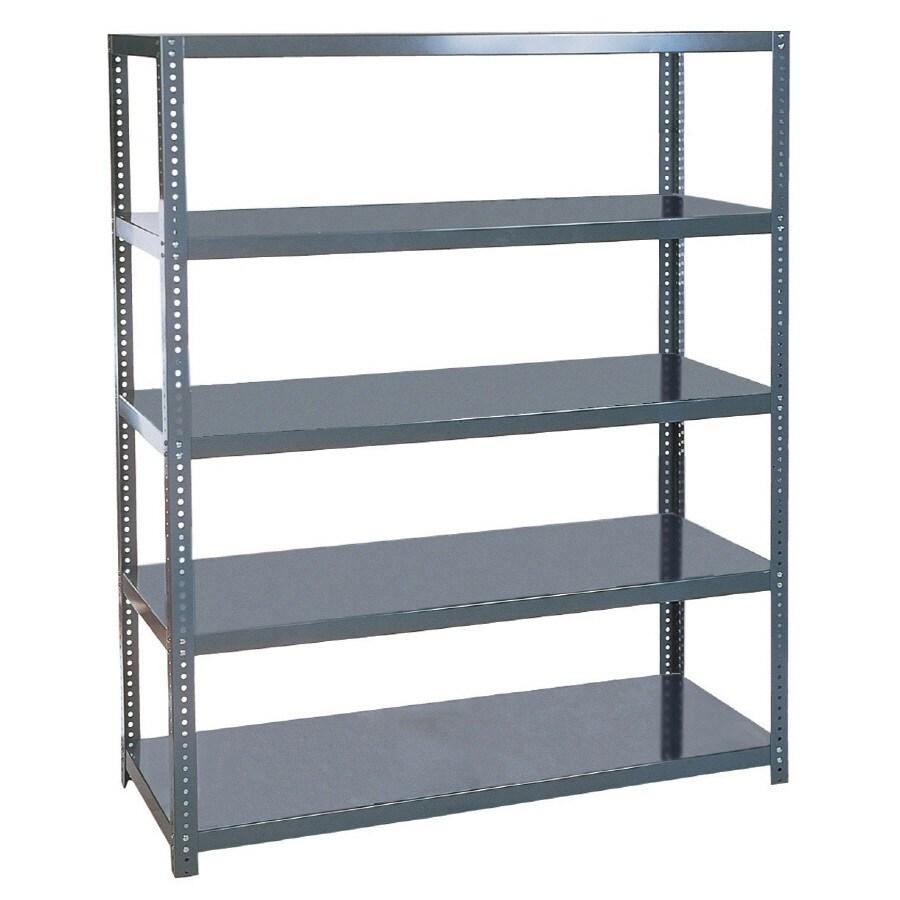 edsal 96-in H x 60-in W x 24-in D 5-Tier Steel Freestanding Shelving Unit