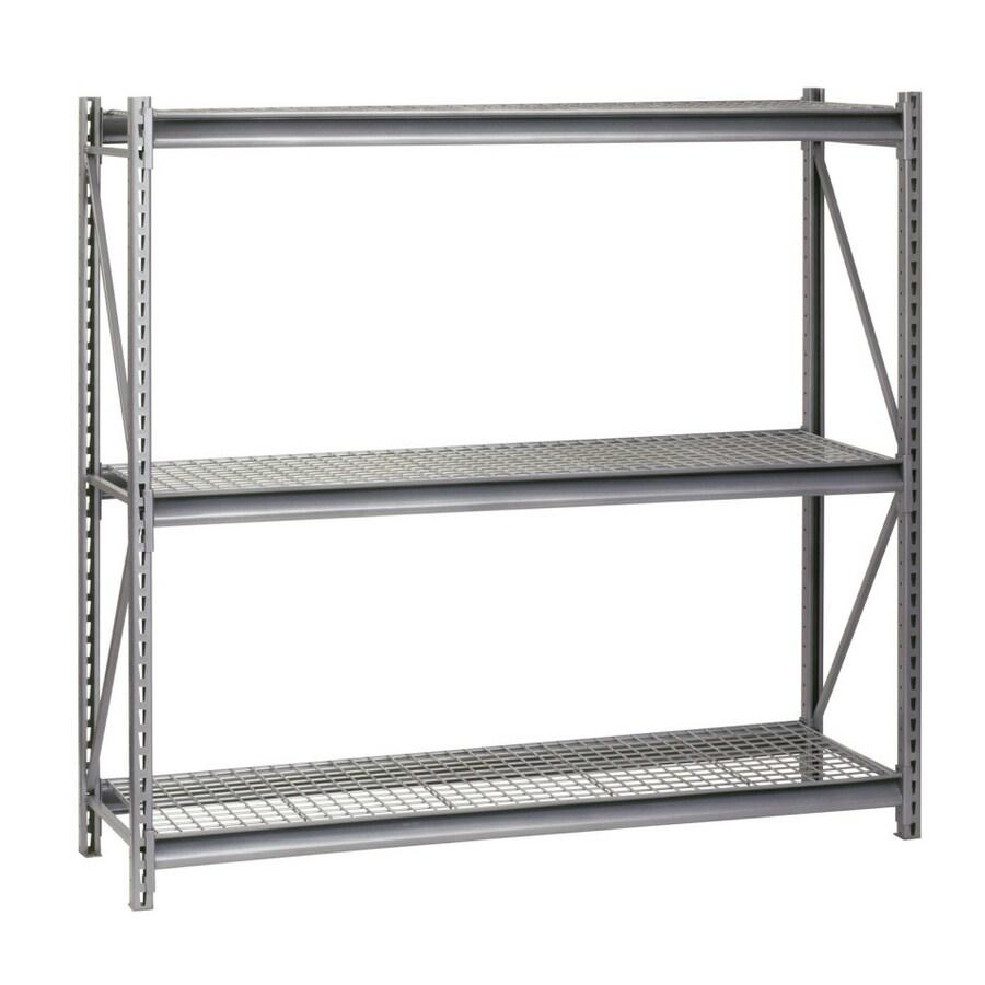 edsal 96-in H x 72-in W x 36-in D 3-Tier Steel Freestanding Shelving Unit