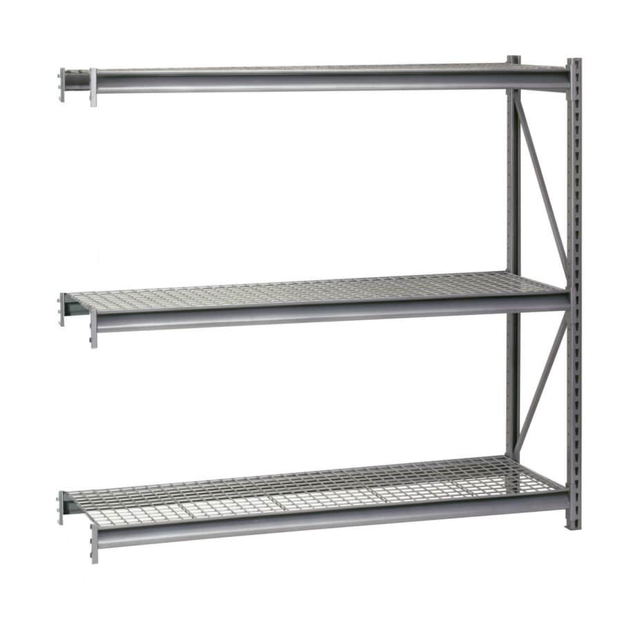 edsal 120-in H x 96-in W x 48-in D 3-Tier Steel Freestanding Shelving Unit
