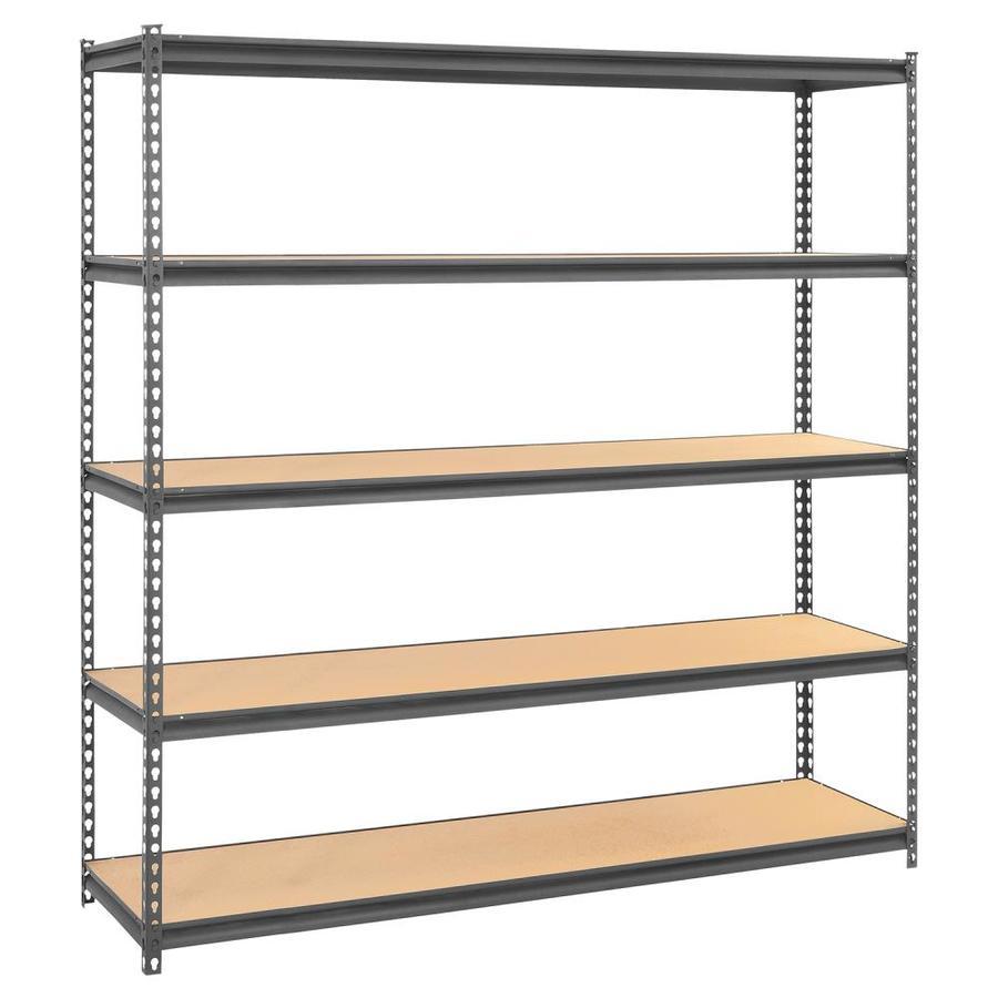 edsal 72-in H x 72-in W x 18-in D 5-Tier Steel Freestanding Shelving Unit