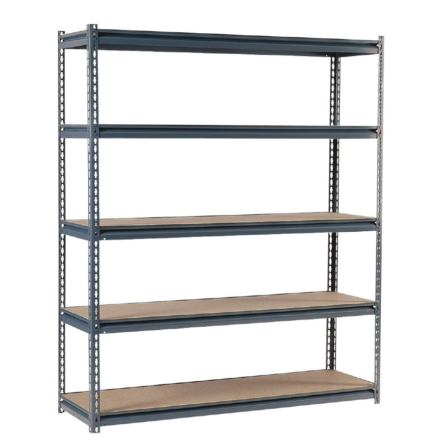 edsal 72-in H x 72-in W x 24-in D 5-Tier Steel Freestanding Shelving Unit