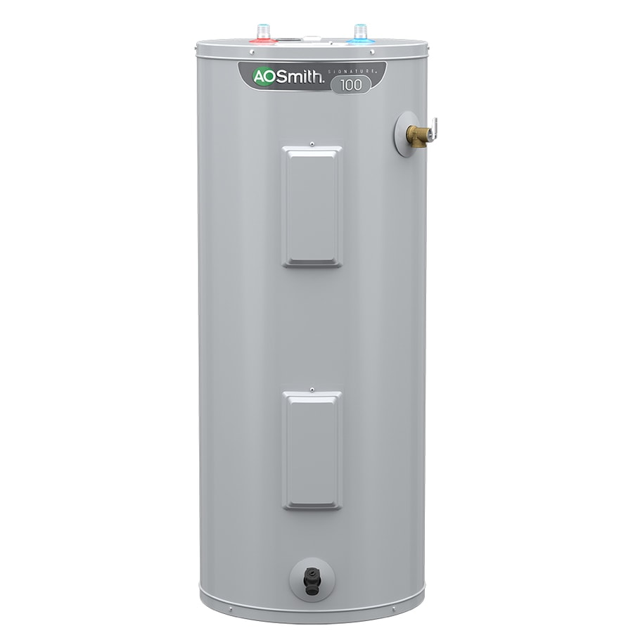 A O Smith Signature 40 Gallon Tall 6 Year Limited 4500 Watt Double Element Electric Water Heater In The Electric Water Heaters Department At Lowes Com