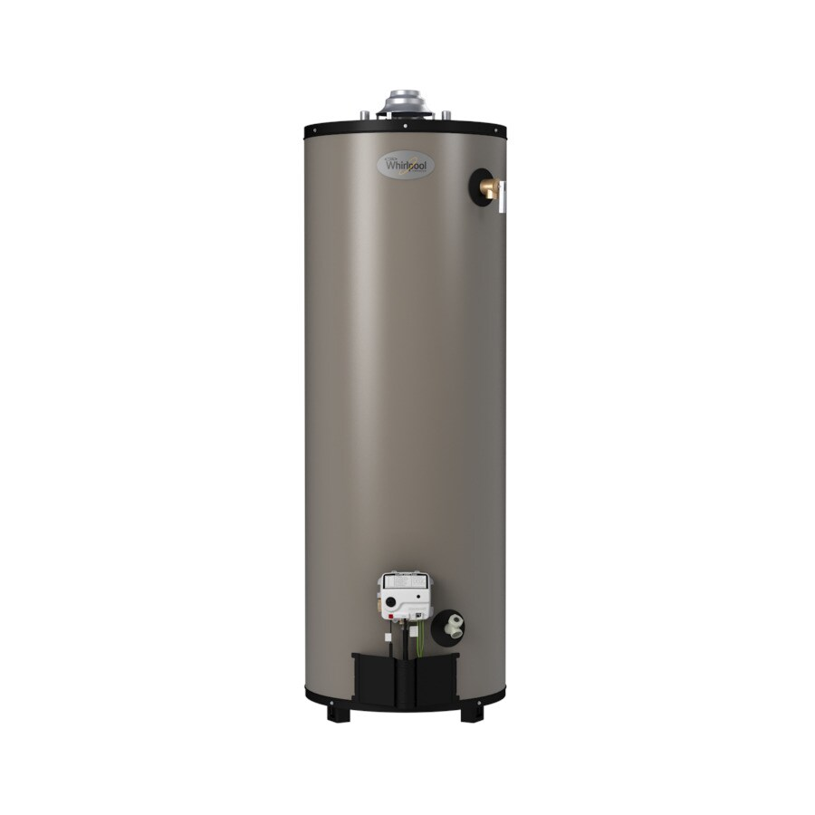 Whirlpool 40-Gallon 12-Year Limited Residential Tall Natural Gas Water Heater