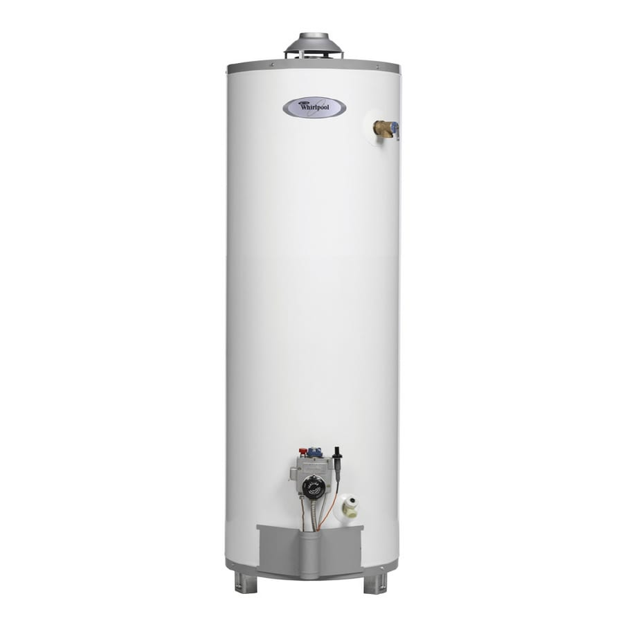 shop whirlpool 40 gallon 9 year gas water heater natural