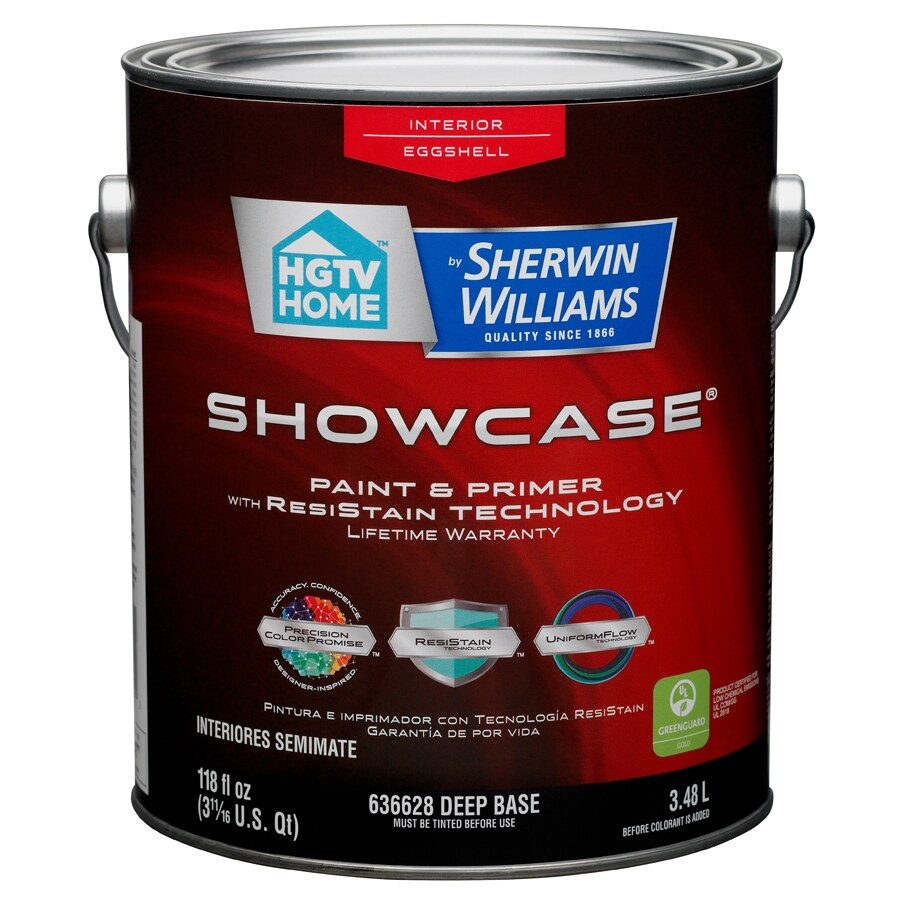 HGTV HOME by Sherwin-Williams Showcase Tintable Eggshell Latex Interior Paint and Primer in One (Actual Net Contents: 118-fl oz)