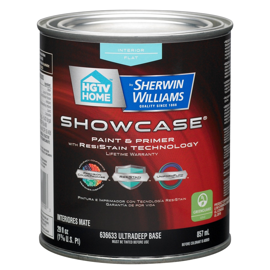 HGTV HOME by Sherwin-Williams Showcase Tintable Flat Latex Interior Paint and Primer in One (Actual Net Contents: 29-fl oz)