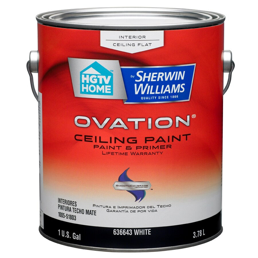 Shop Hgtv Home By Sherwin Williams Ovation White Flat