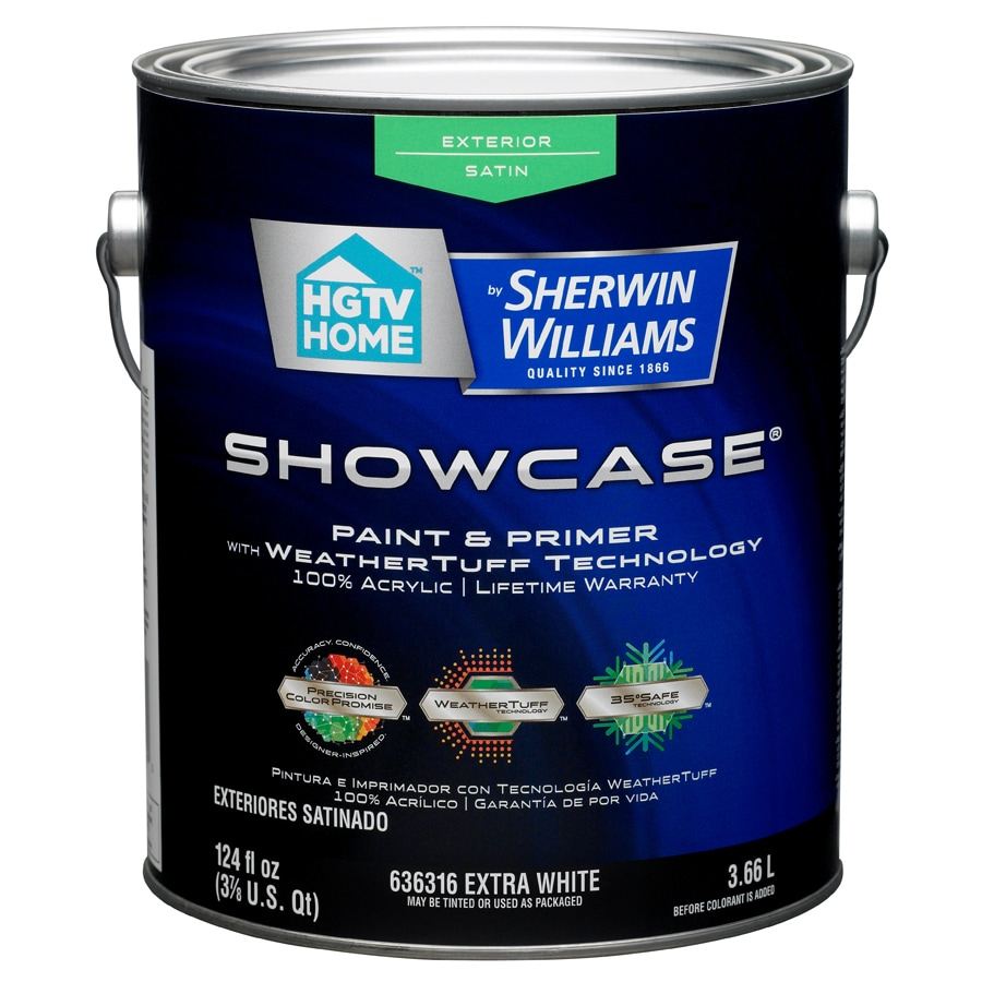 HGTV HOME by Sherwin-Williams Showcase Tintable Satin Latex Exterior Paint (Actual Net Contents: 124-fl oz)