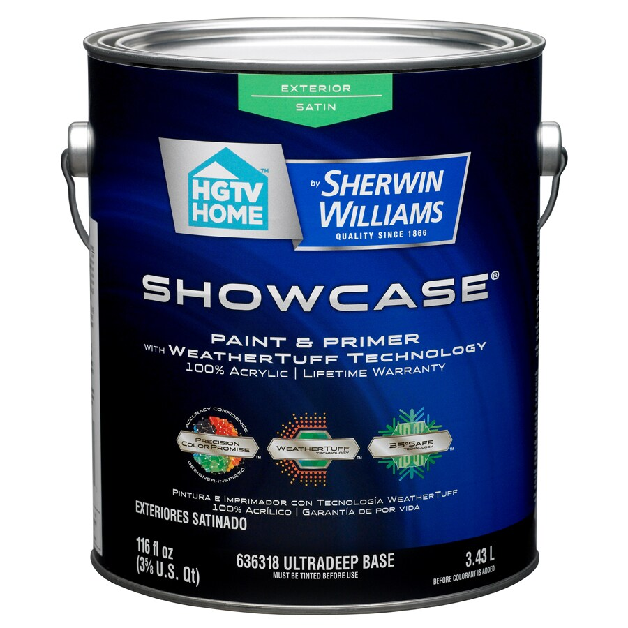 HGTV HOME by Sherwin-Williams Showcase Tintable Satin Latex Exterior Paint (Actual Net Contents: 116-fl oz)
