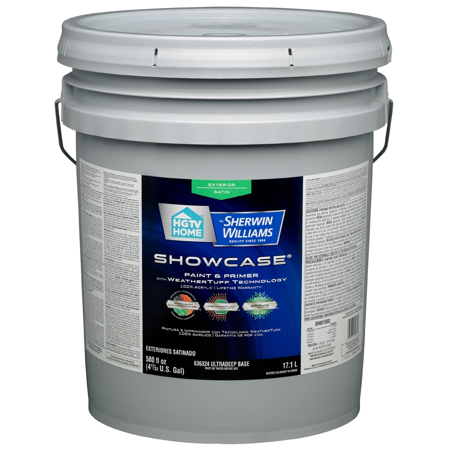 HGTV HOME by Sherwin-Williams Showcase Tintable Satin Latex Exterior Paint (Actual Net Contents: 580-fl oz)