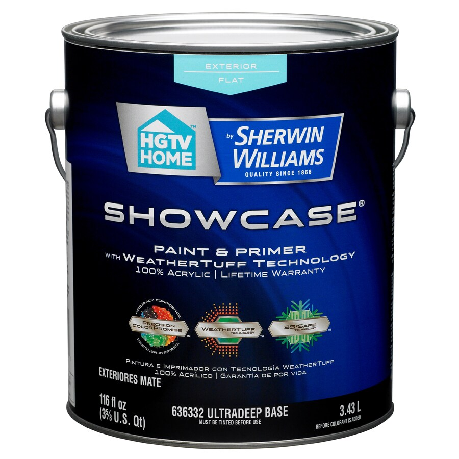 HGTV HOME by Sherwin-Williams Showcase Tintable Flat Latex Exterior Paint (Actual Net Contents: 116-fl oz)