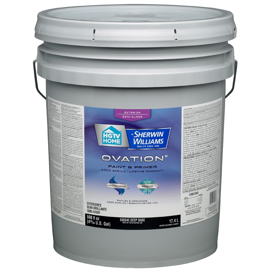 HGTV HOME by Sherwin-Williams Ovation Tintable Semi-Gloss Latex Exterior Paint (Actual Net Contents: 590-fl oz)
