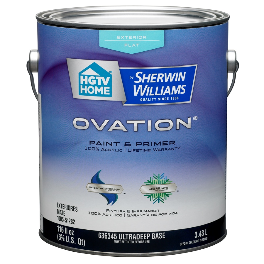 Shop Hgtv Home By Sherwin Williams Ovation Tintable Flat Latex Exterior Paint Actual Net