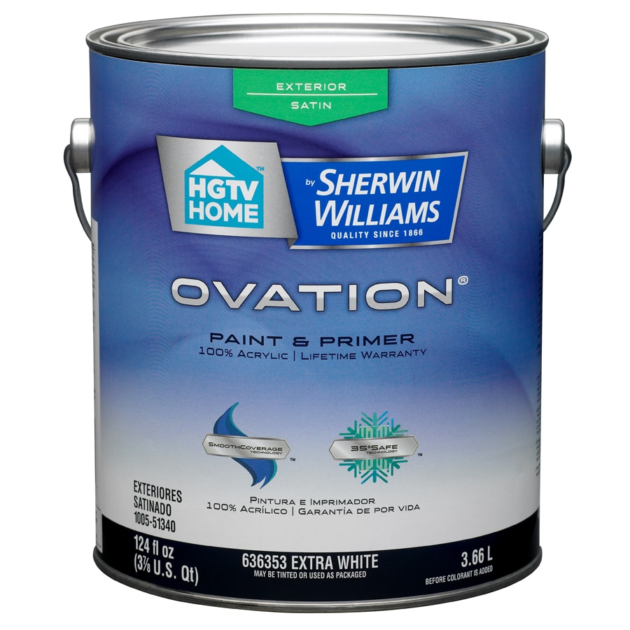 HGTV HOME by Sherwin-Williams Ovation Tintable Satin Latex Exterior Paint (Actual Net Contents: 124-fl oz)