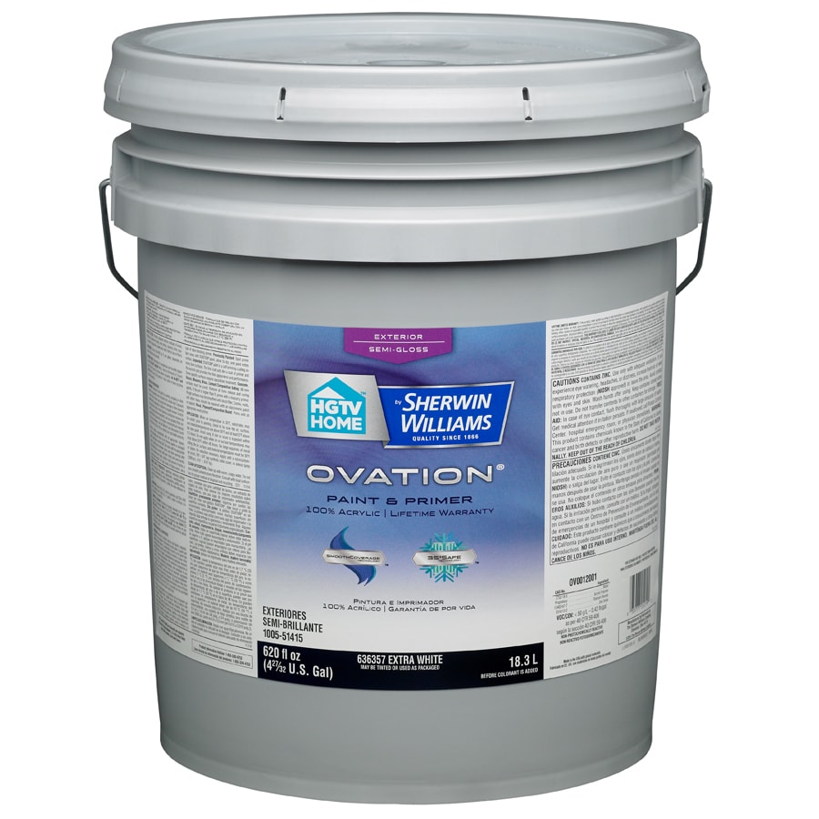 Shop hgtv home by sherwin williams ovation tintable semi - Sherwin williams exterior textured paint ...