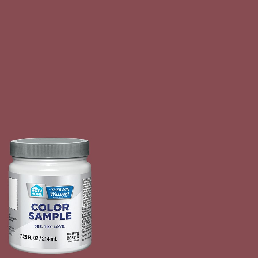 Hgtv Home By Sherwin Williams Passionate Hgsw2032 Interior Paint Sample Half Pint In The Samples Department At Lowes Com