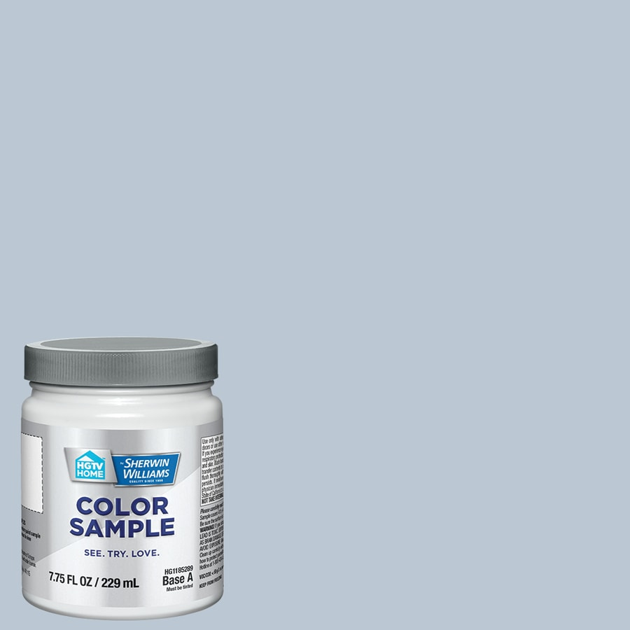 Shop Hgtv Home By Sherwin Williams Winter 39 S Whisper Interior Eggshell Paint Sample Actual Net