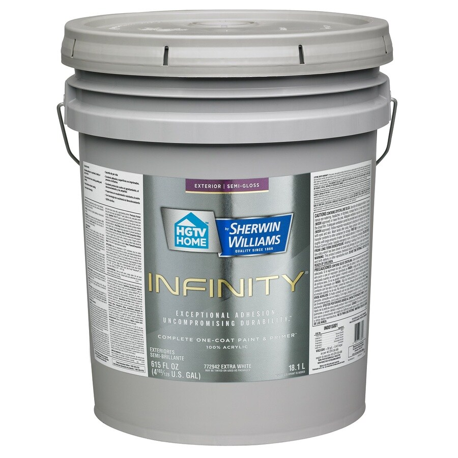 HGTV HOME by Sherwin-Williams Infinity Tintable Semi-Gloss Acrylic Exterior Paint (Actual Net Contents: 615 Fluid Oz.)