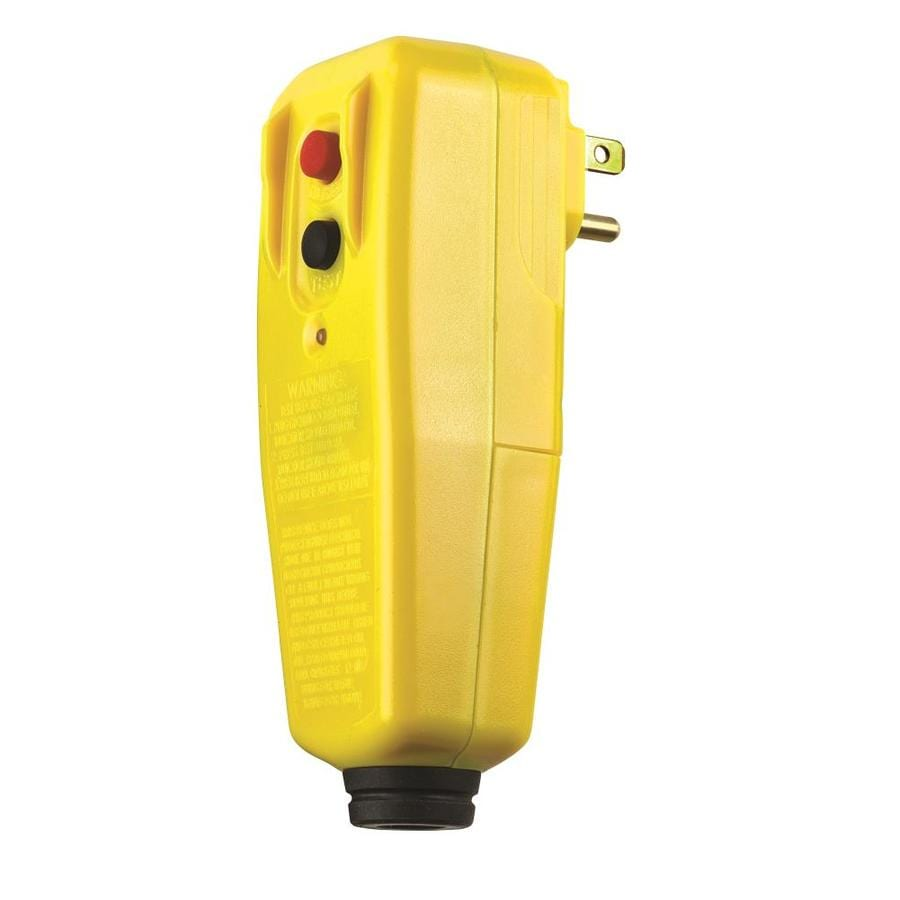 Tower Manufacturing 15 Amp 125-Volt Yellow 3-Wire Grounding Plug or Connector