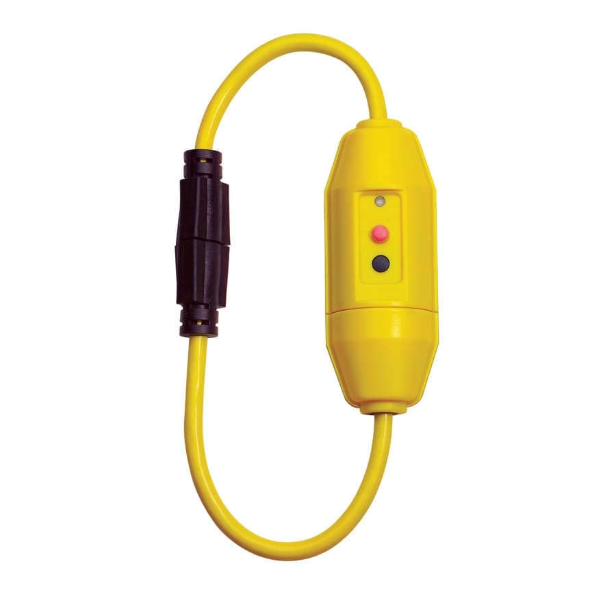 Tower Manufacturing 2-ft 20-Amp 12-Gauge Yellow Outdoor Extension Cord with GFCI Circuit