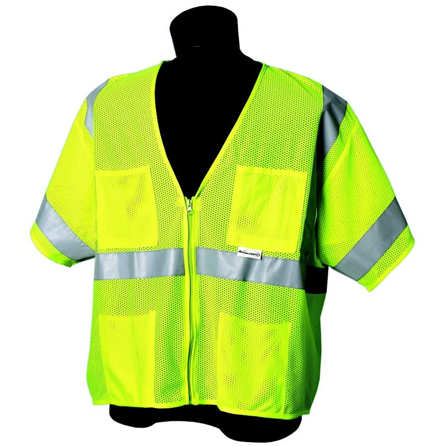 JACKSON SAFETY Brand Class 3 Sleeveless Lime Mesh Vest