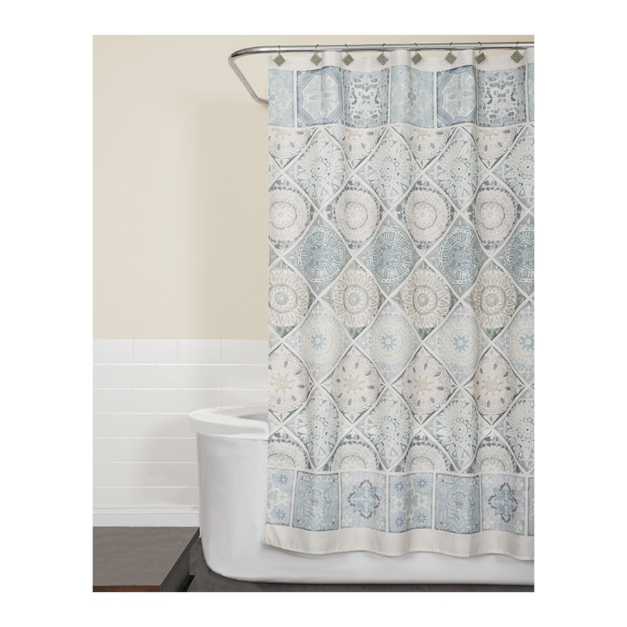 Saturday Knight Limited Modena Polyester Striped Shower Curtain