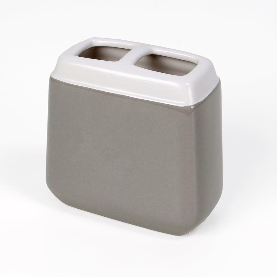 Saturday Knight Limited Trellis Gray/Ceramic Ceramic Toothbrush Holder