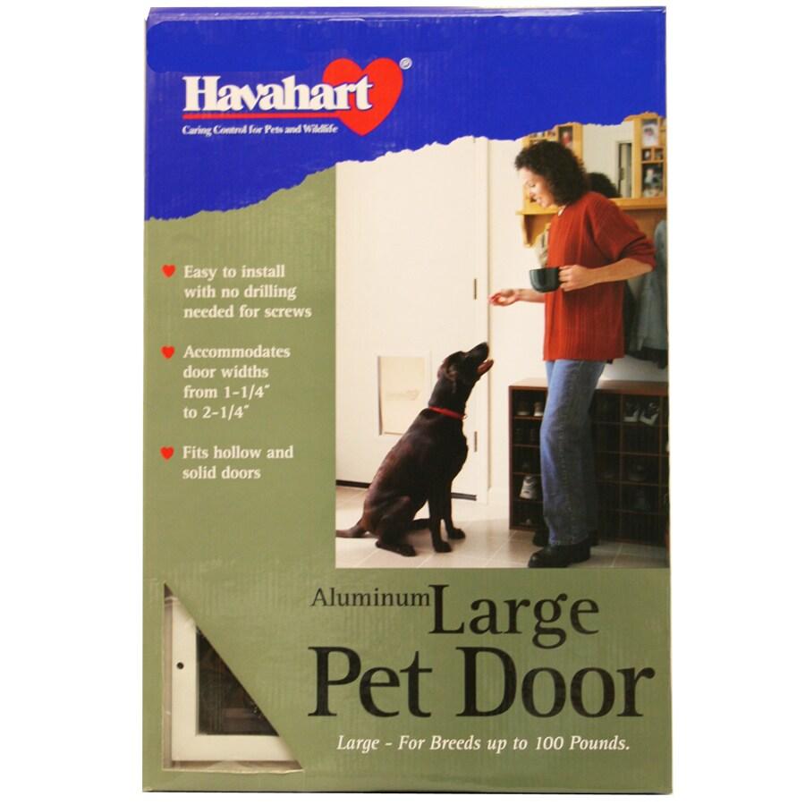 Havahart Large White Aluminum Pet Door (Actual: 17-in x 10.75-in)