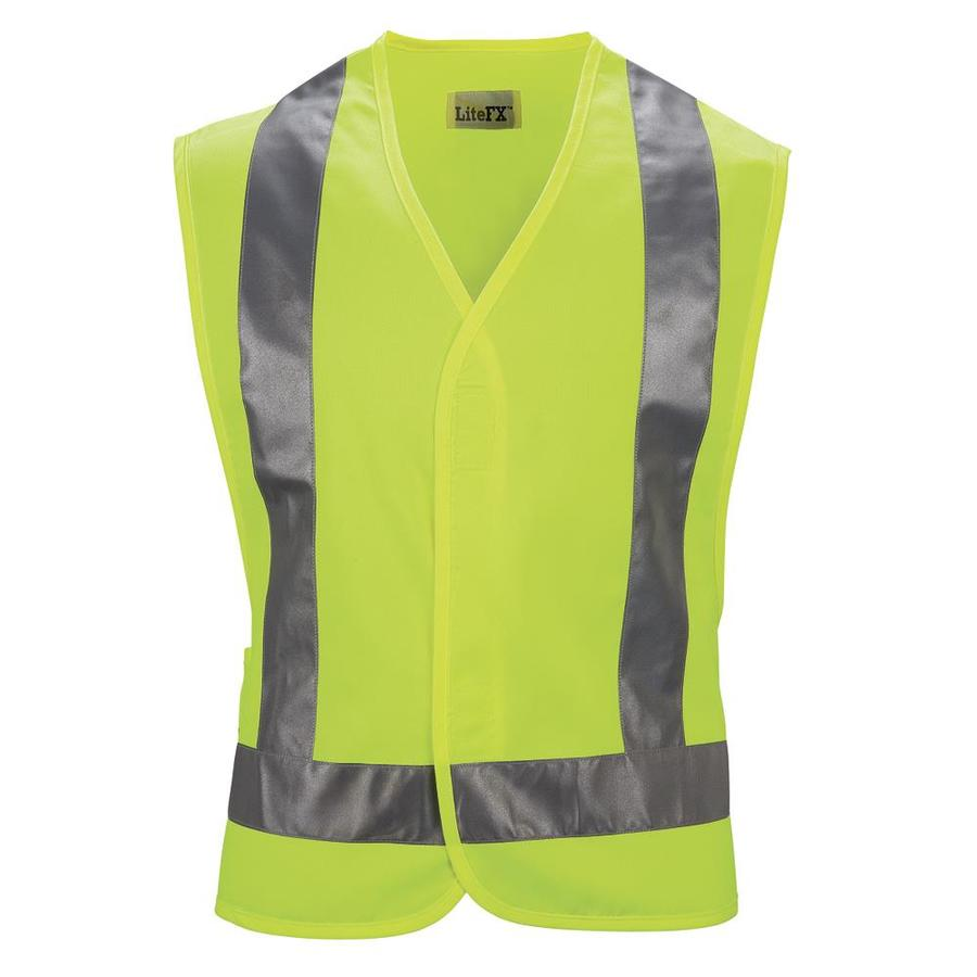 Red Kap X-Large Yellow Polyester High Visibility Reflective Safety Vest