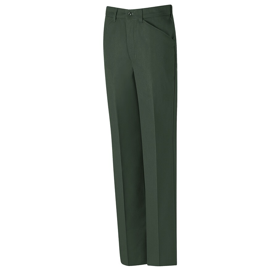 Red Kap Men's 34 x 30 Spruce Green Twill Work Pants