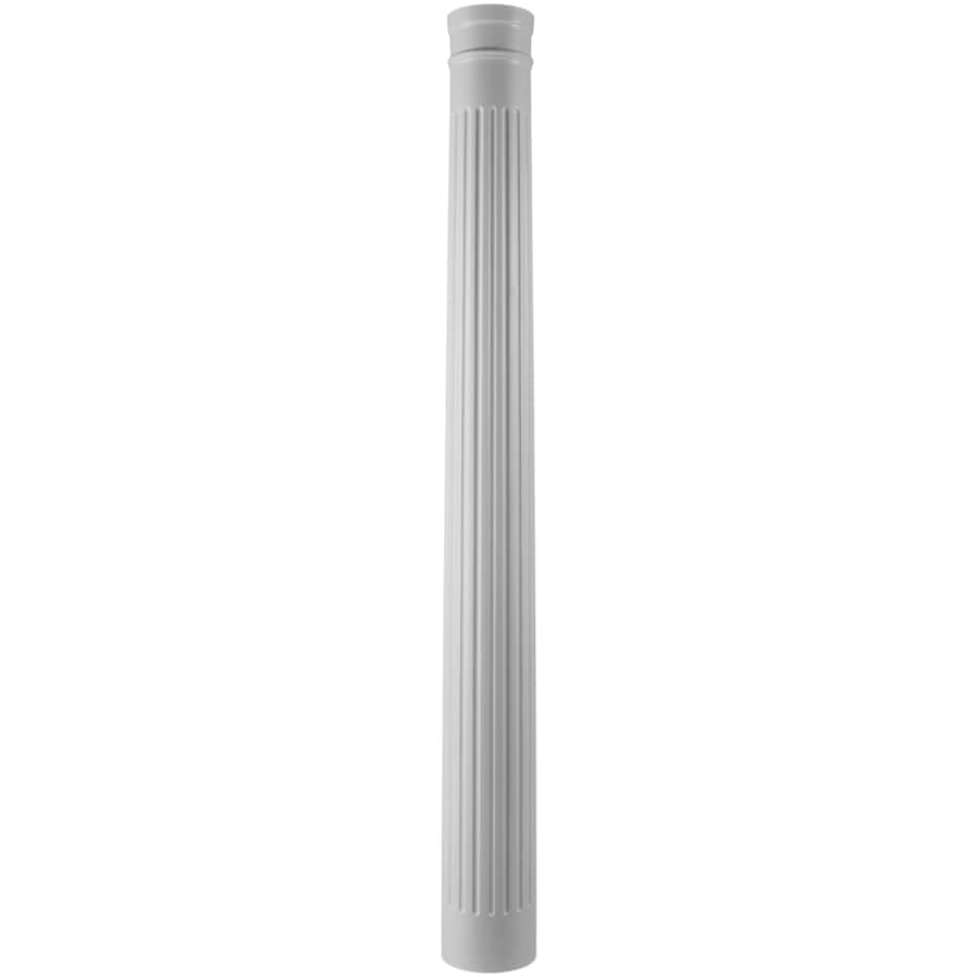 Turncraft 9.625-in x 7.583-ft Unfinished Pine Wood Fluted Round Column