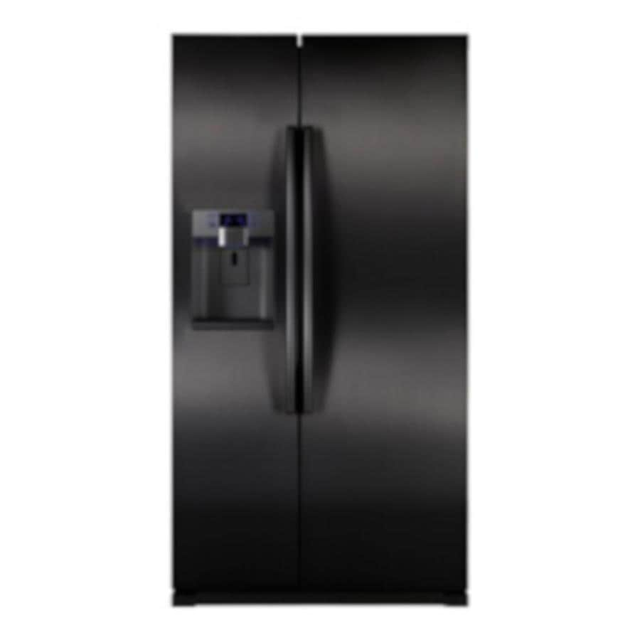 Samsung 24.1-cu ft Counter-Depth Side-By-Side Refrigerator with Single Ice Maker (Black) ENERGY STAR Certified
