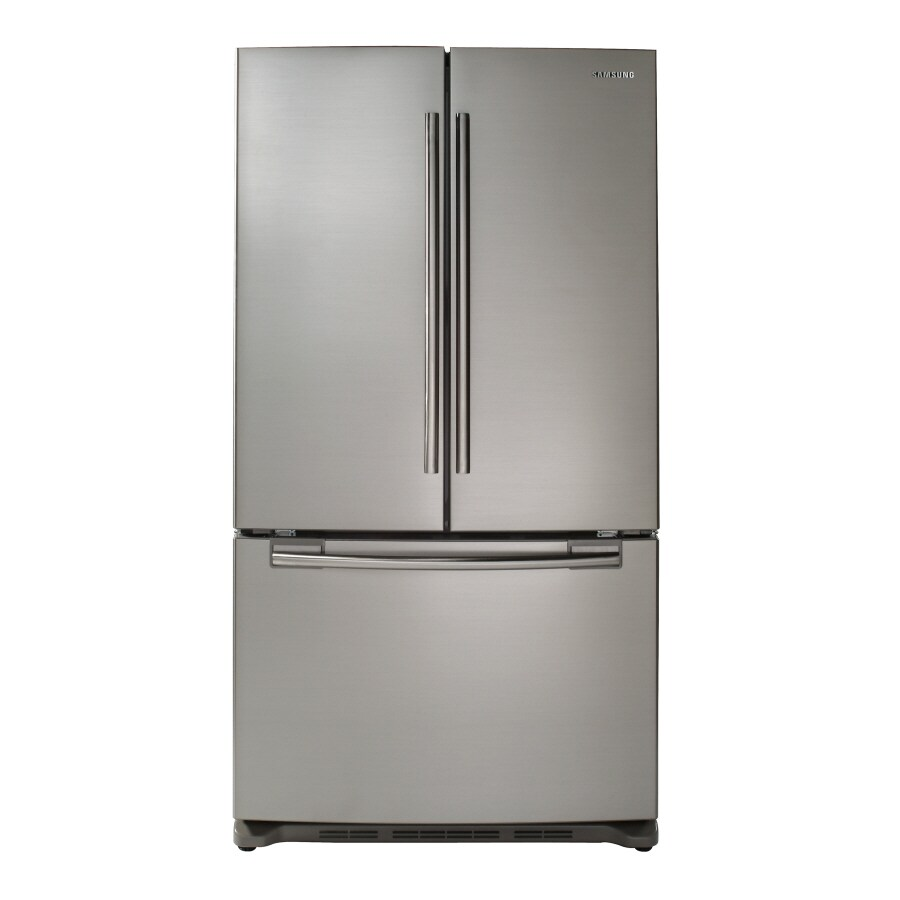 Samsung 25.8-cu ft French Door Refrigerator with Single Ice Maker (Platinum) ENERGY STAR