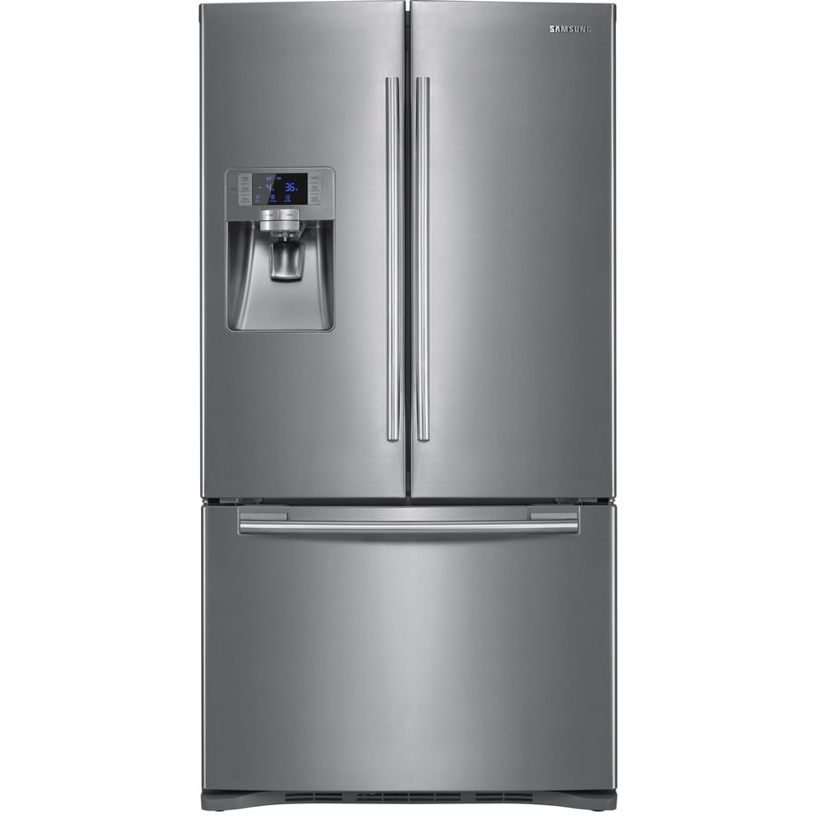 Samsung 22.5-cu ft French Door Refrigerator with Dual Ice Maker (Stainless Steel) ENERGY STAR