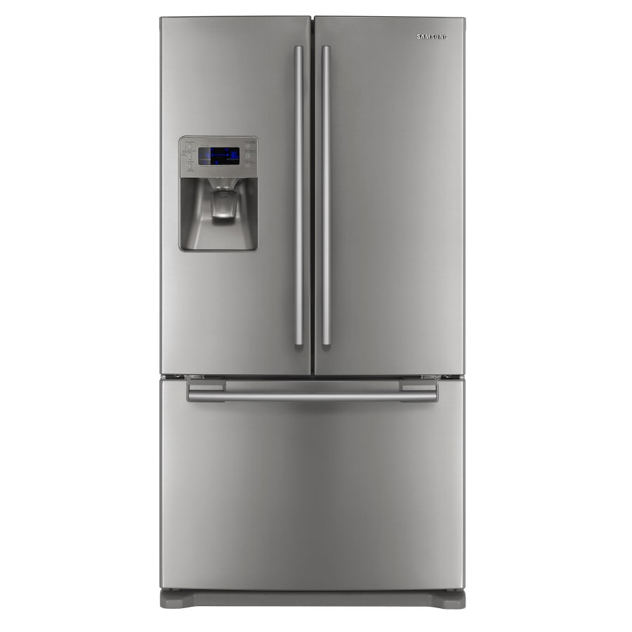 Samsung 25.7-cu ft French Door Refrigerator with Dual Ice Maker (Platinum) ENERGY STAR