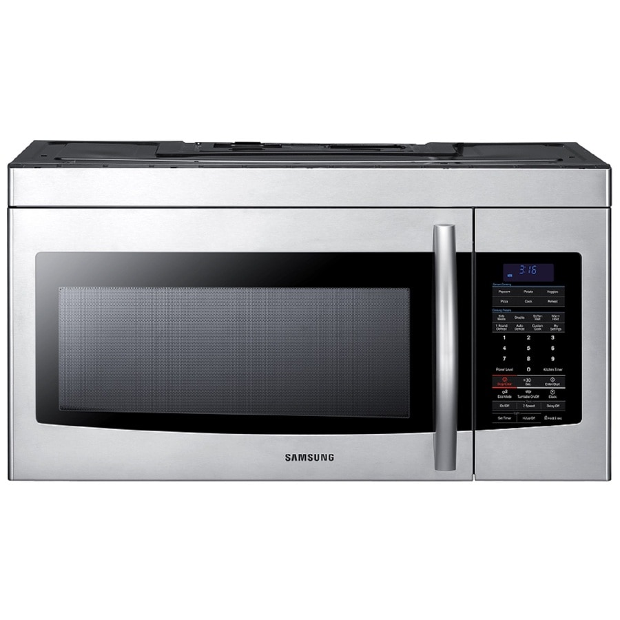 Samsung 1.7-cu ft Over-The-Range Microwave with Sensor Cooking Controls (Stainless Steel) (Common: 30-in; Actual: 29.9-in)