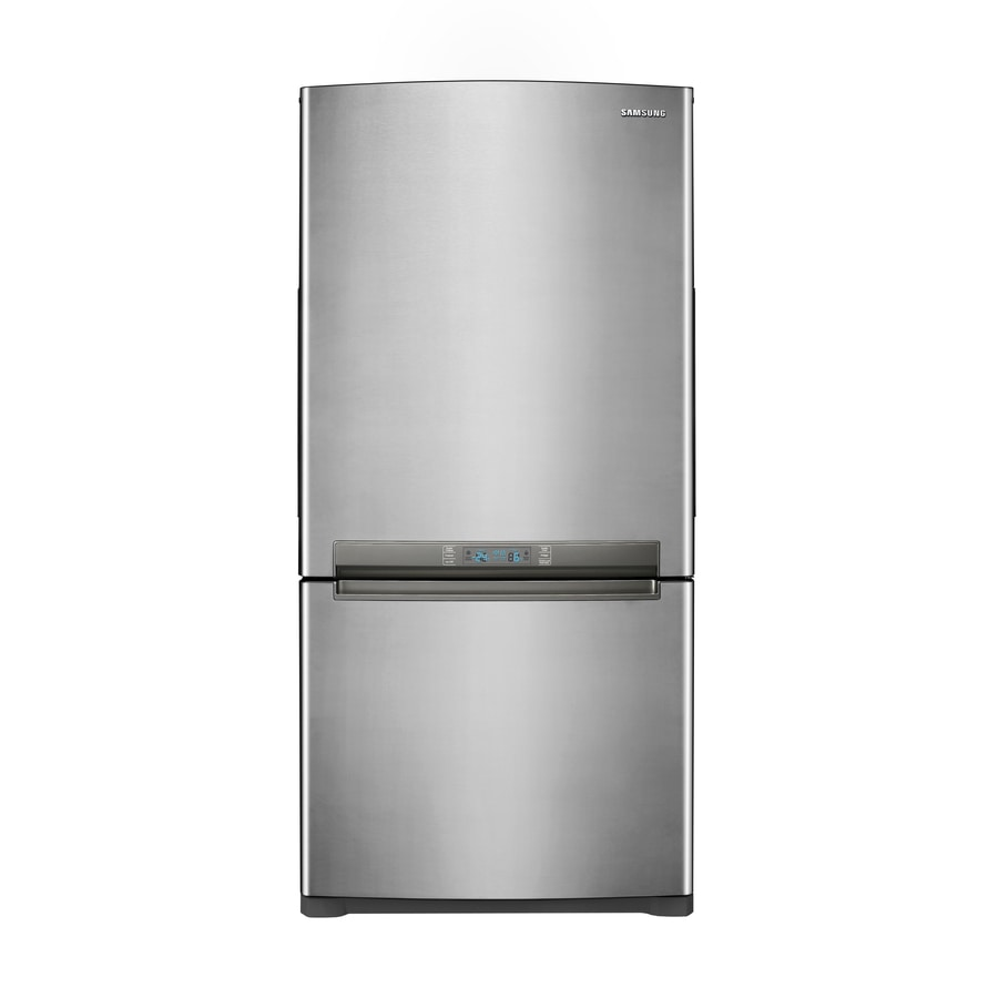Samsung 18 cu ft Bottom Freezer Refrigerator (Platinum) ENERGY STAR