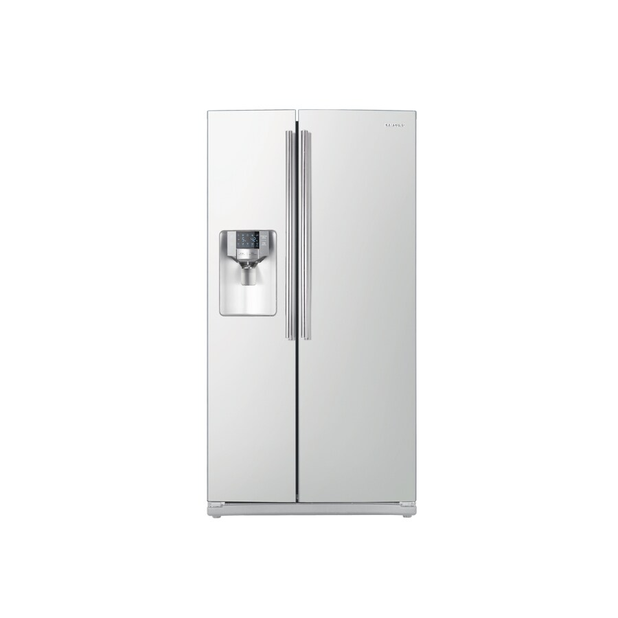 Samsung 25.5-cu ft Side-By-Side Refrigerator with Single Ice Maker (White) ENERGY STAR Certified