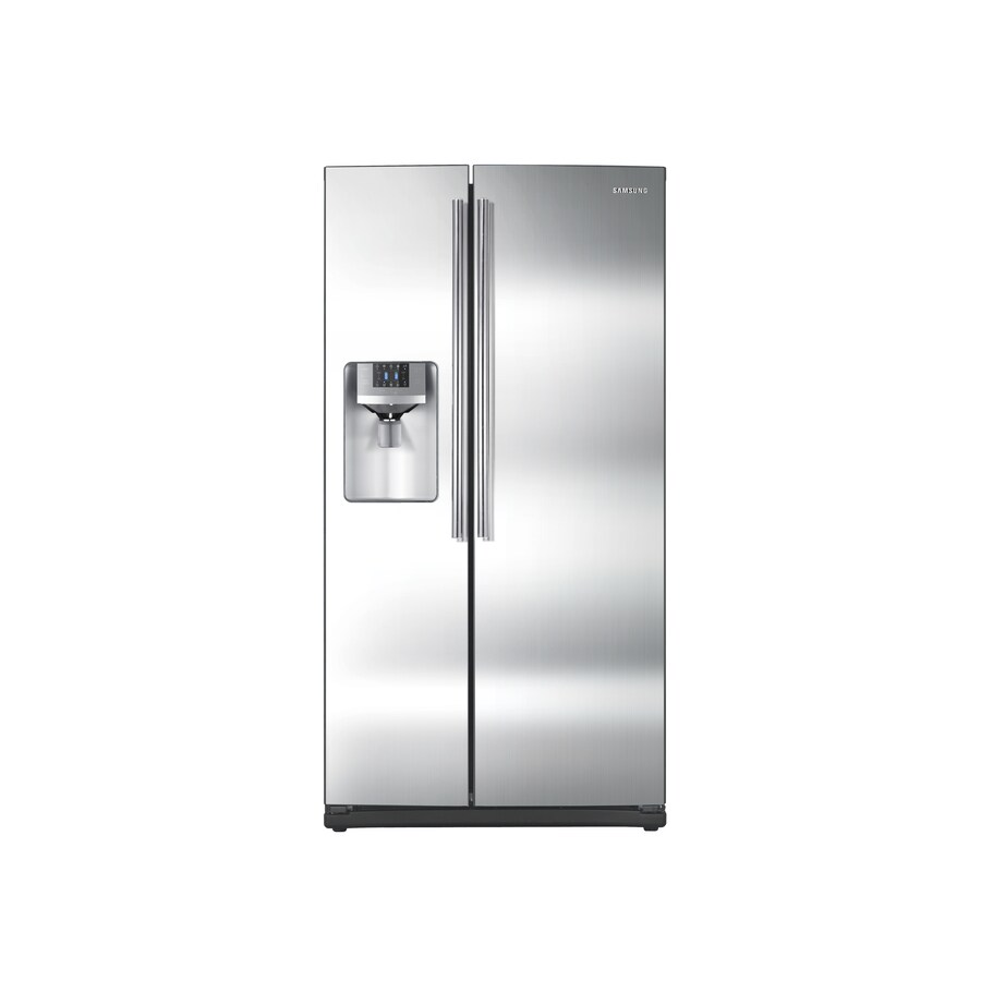 Samsung 25.6-cu ft Side-By-Side Refrigerator with Single Ice Maker (Stainless Steel) ENERGY STAR Certified