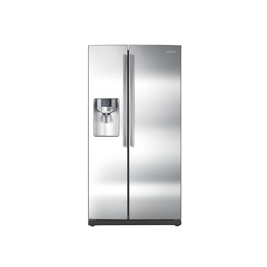 Samsung 25.5-cu ft Side-By-Side Refrigerator with Single Ice Maker (Stainless Steel) ENERGY STAR Certified