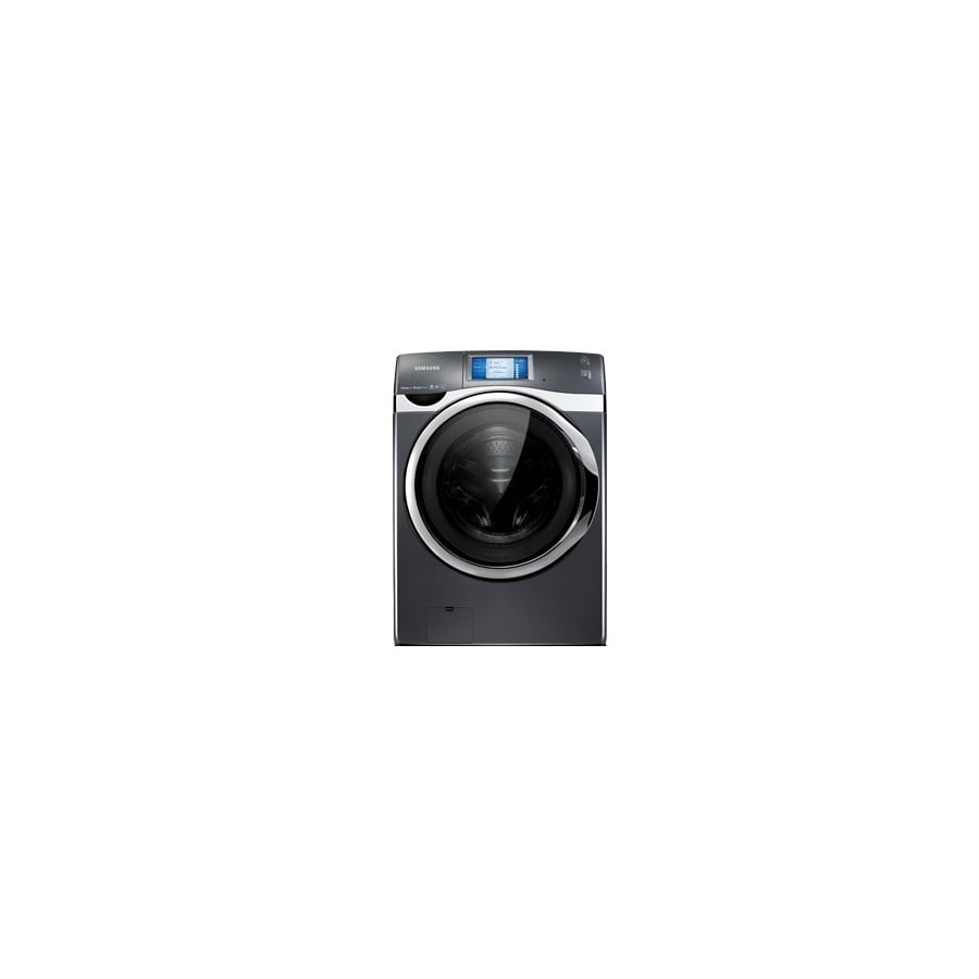 Samsung 4.5-cu ft High-Efficiency Stackable Front-Load Washer with Steam Cycle (Onyx)
