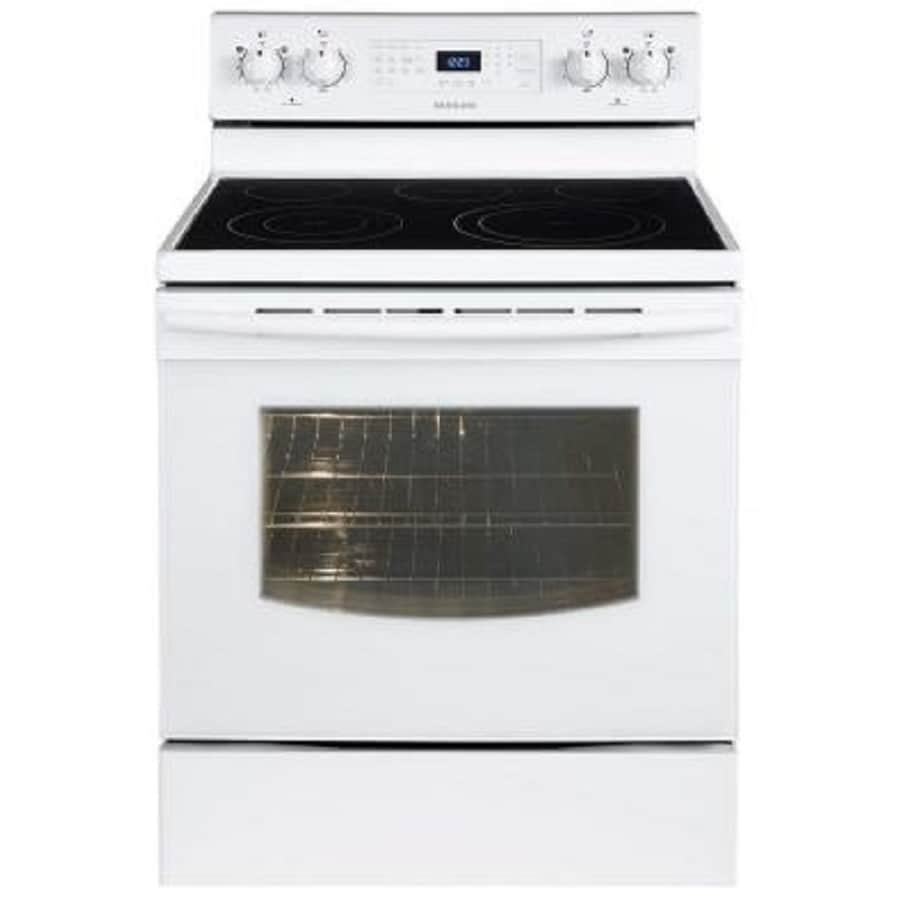 Samsung Smooth Surface Freestanding 5-Element 5.9-cu ft Self-Cleaning Convection Electric Range (White) (Common: 30-in; Actual: 29.90-in)
