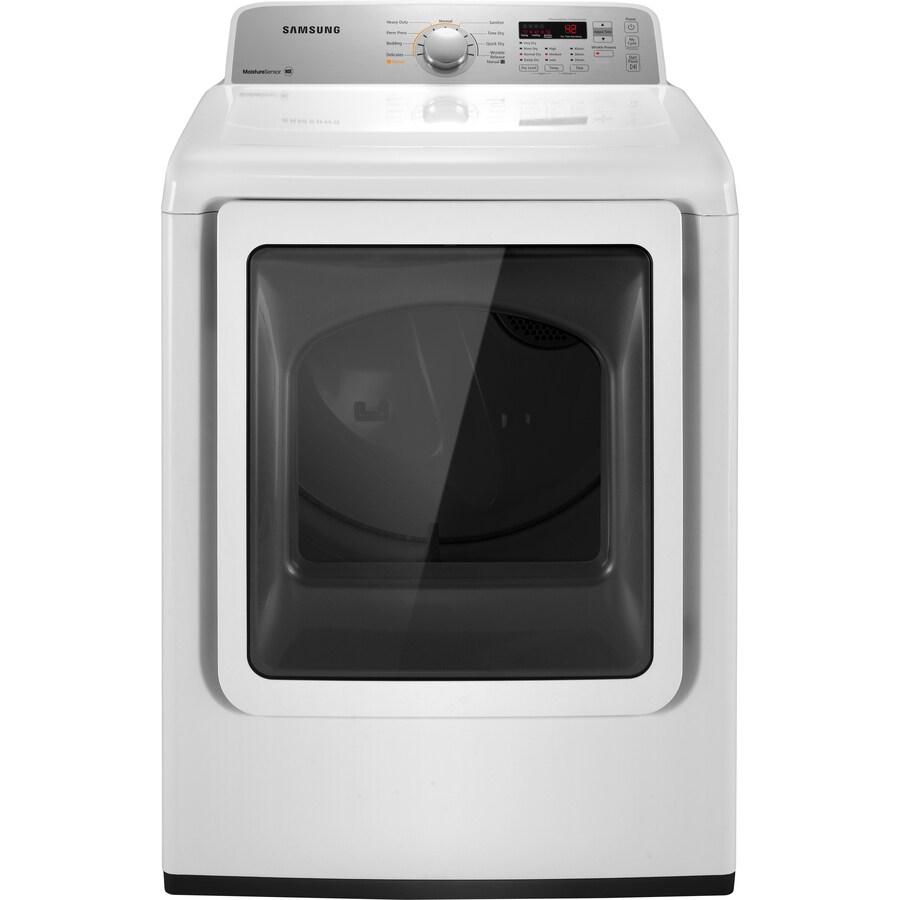 Samsung 7.2-cu ft Electric Dryer (White)