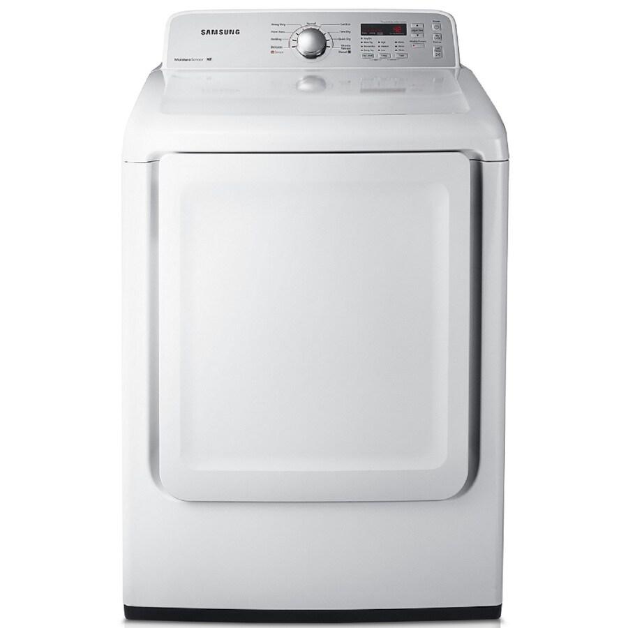 Samsung 7.2-cu ft Gas Dryer (White)