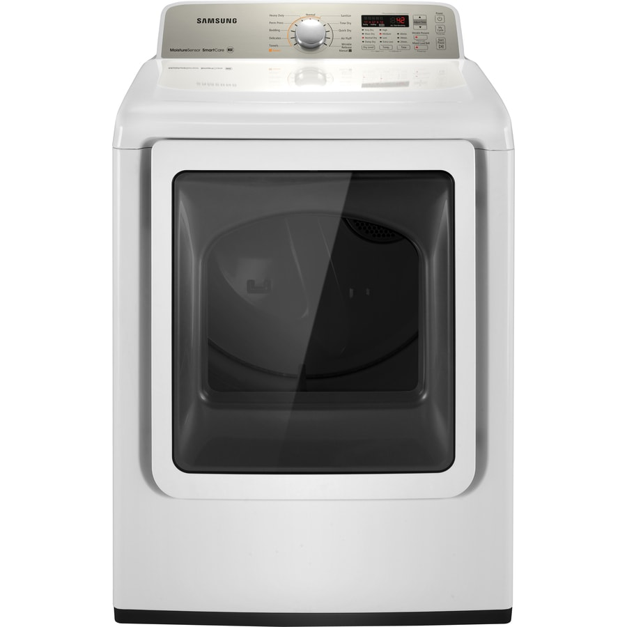 Samsung 7.3-cu ft Gas Dryer (White)