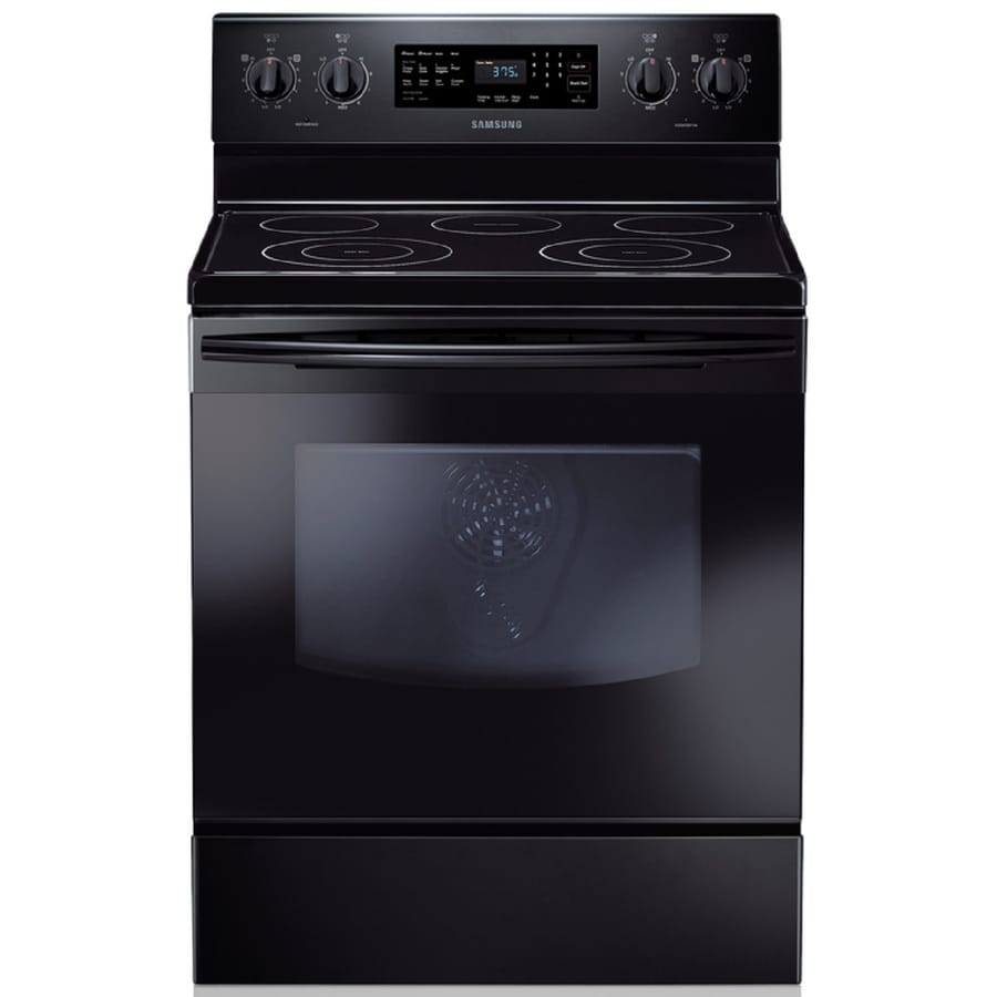 Samsung Smooth Surface Freestanding 5-Element 5.9-cu ft Self-Cleaning Convection Electric Range (Black) (Common: 30-in; Actual: 29.9062-in)