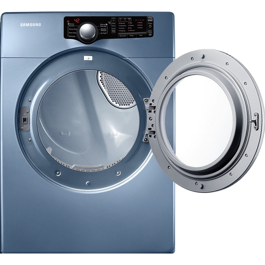 Samsung 7 3 Cu Ft Stackable Electric Dryer Blue In The Electric Dryers Department At Lowes Com