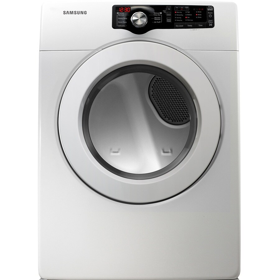 Samsung 7.3-cu ft Stackable Electric Dryer (White)